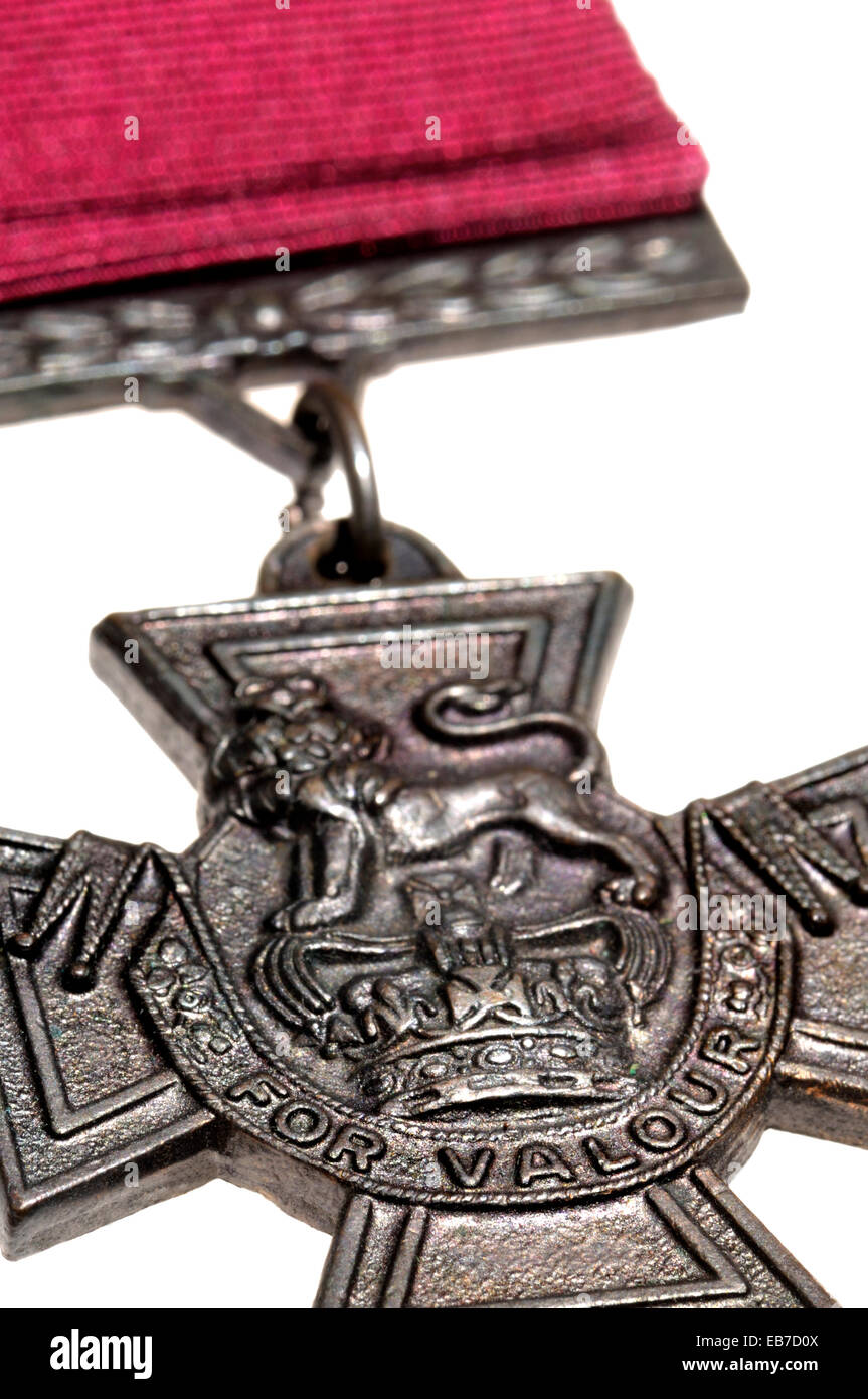 Victoria Cross medal (high quality replica) - Stock Image