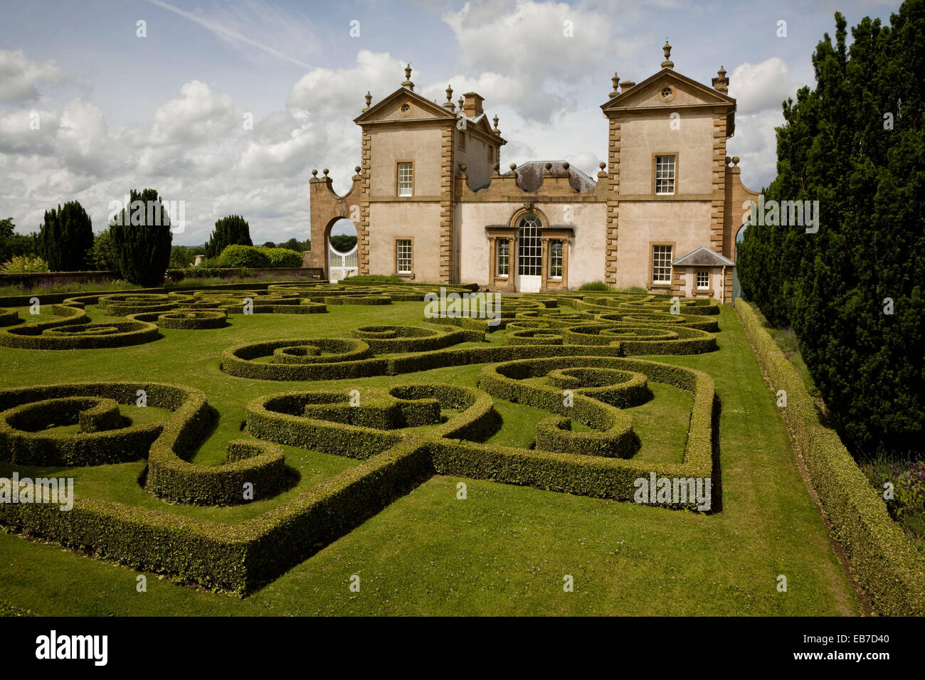 East wing Chatelherault  originally built in 1734 as hunting lodge and summer house for the Dukes Hamilton  Designed - Stock Image