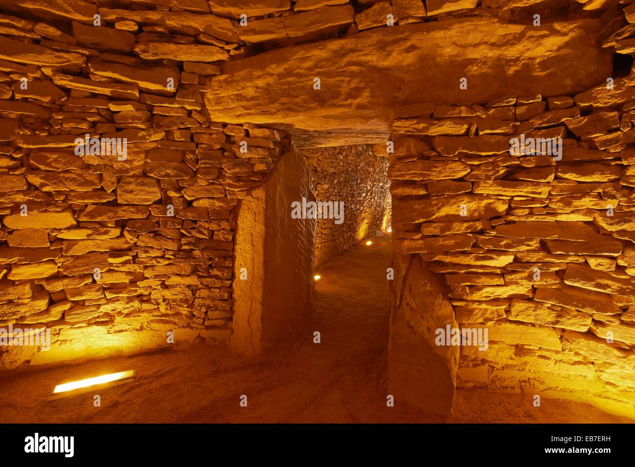 El Romeral megalithic dolmen, Antequera, Málaga province, Andalusia, Spain - Stock Image
