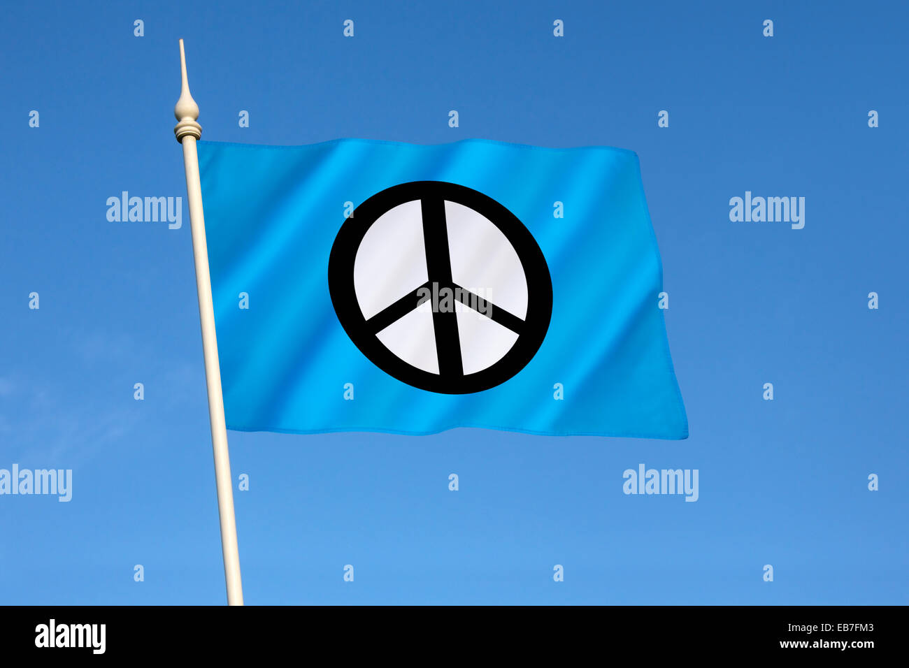 Flag of the Campaign for Nuclear Disarmament  - CND - Stock Image
