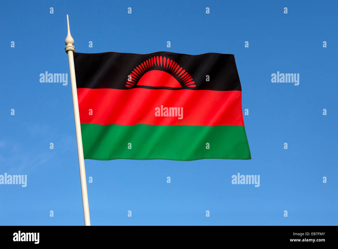 Flag of Malawi - Stock Image