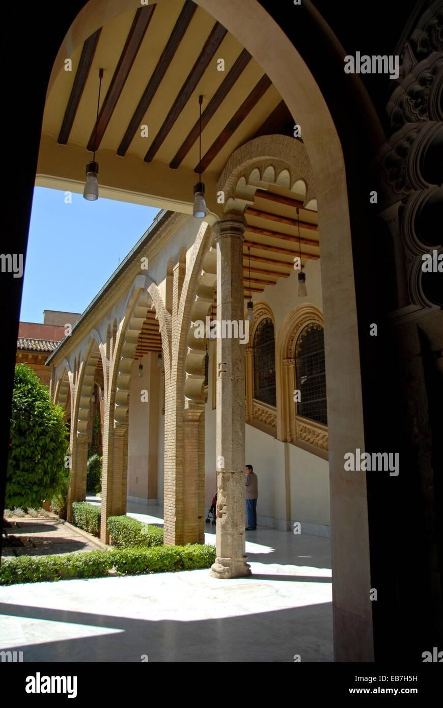 La Aljafería Palace North Gate Arches Patio De Santa Isabel Zaragoza Aragón  Autonomous Community Aragon Ebro Valley Spain