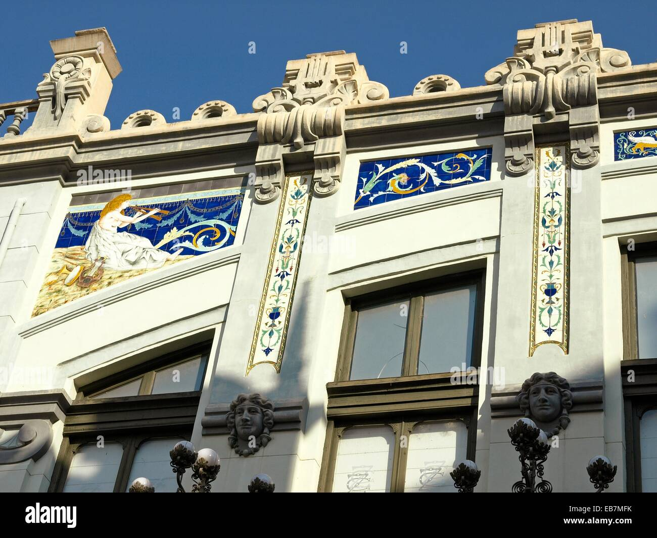 modernism architecture in Zamora - Stock Image