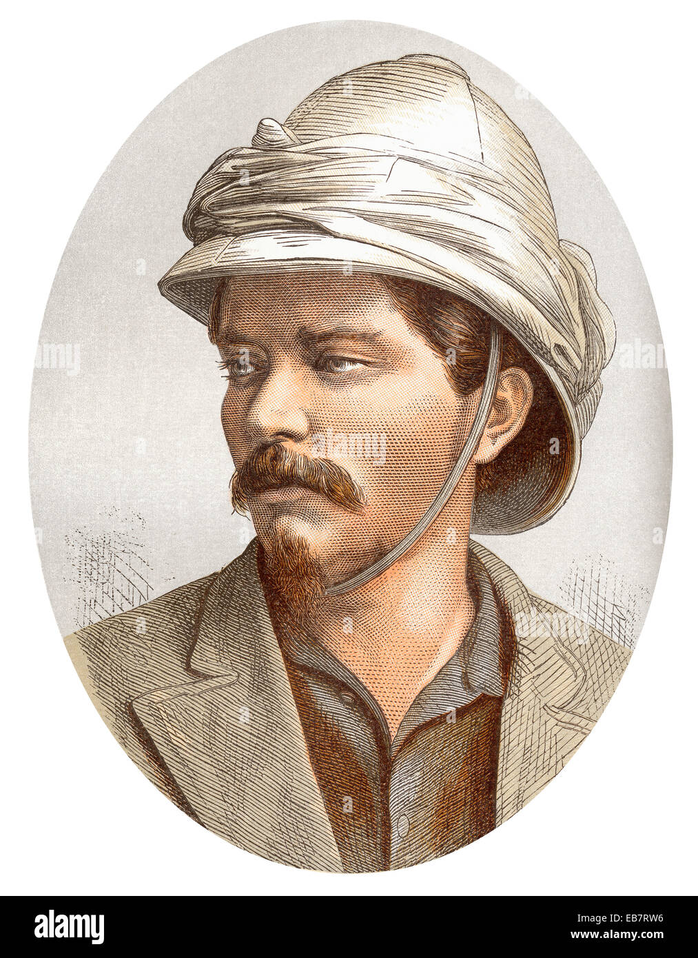 Sir Henry Morton Stanley, 1841  - 1904, a Welsh journalist and explorer,  famous for his discovery of the source - Stock Image