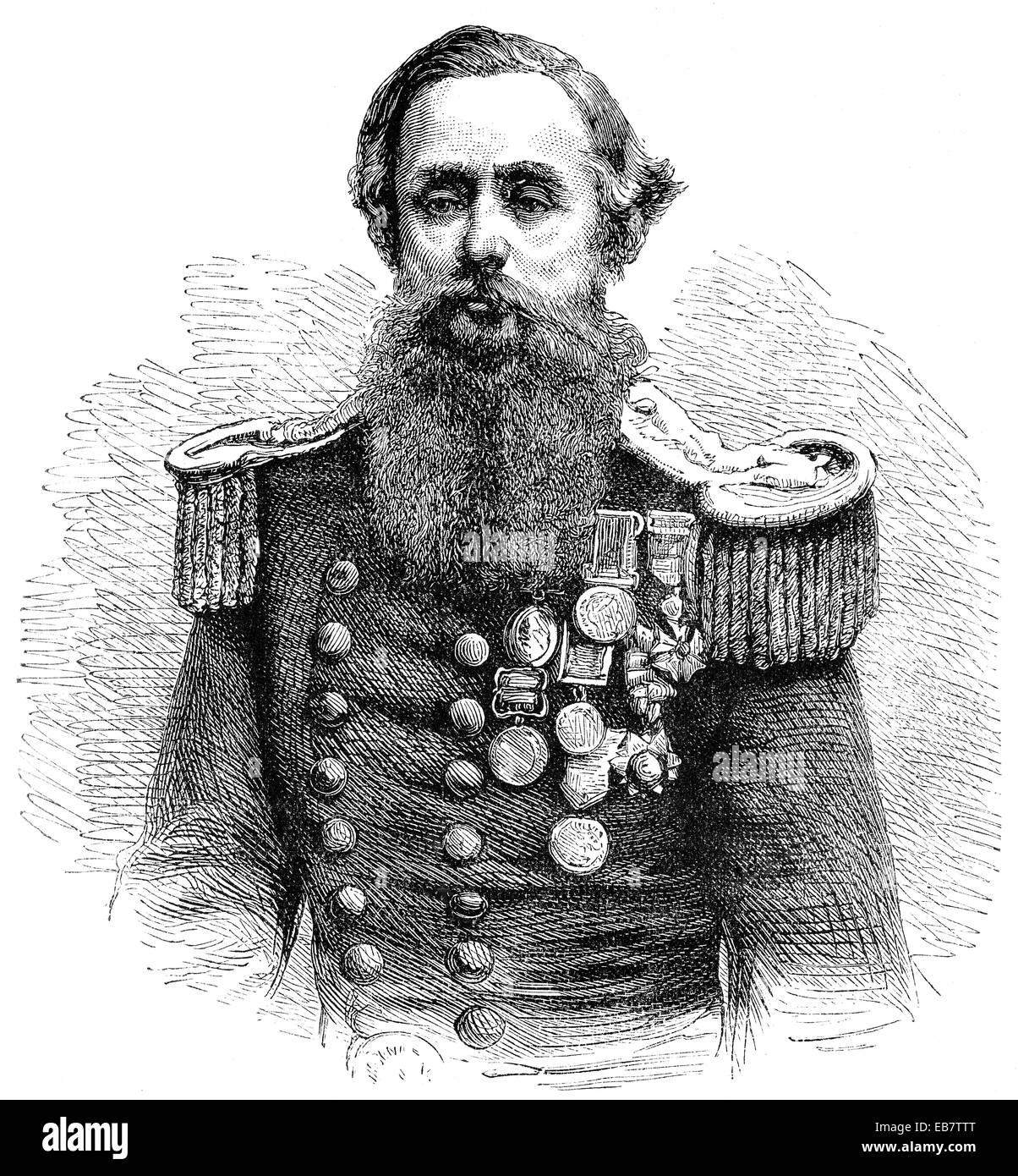Captain Cowper Phipps Coles, 1819 - 1870, an English naval captain and inventor, Cowper Phipps Coles, 1819 - 1870, - Stock Image