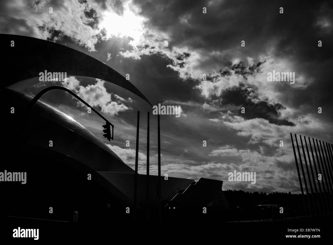 Abstract images of the auditorium in Santa Cruz de Tenerife, Canary Islands, Spain. - Stock Image