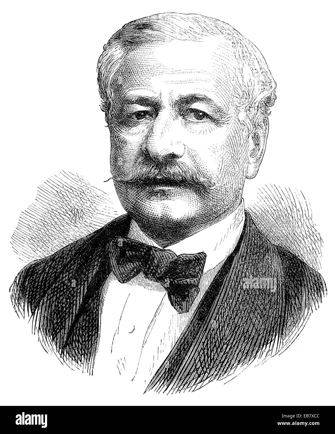 Ferdinand Marie Vicomte de Lesseps, 1805 - 1894, a French diplomat and initiator of the Suez Canal, Ferdinand Marie - Stock Image