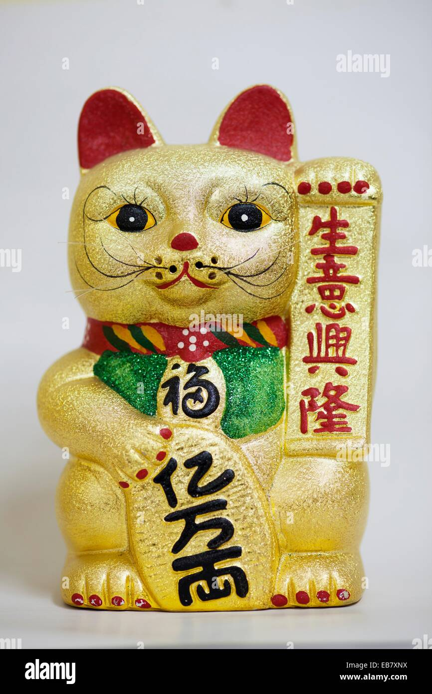 Japanese good fortune cat - Stock Image