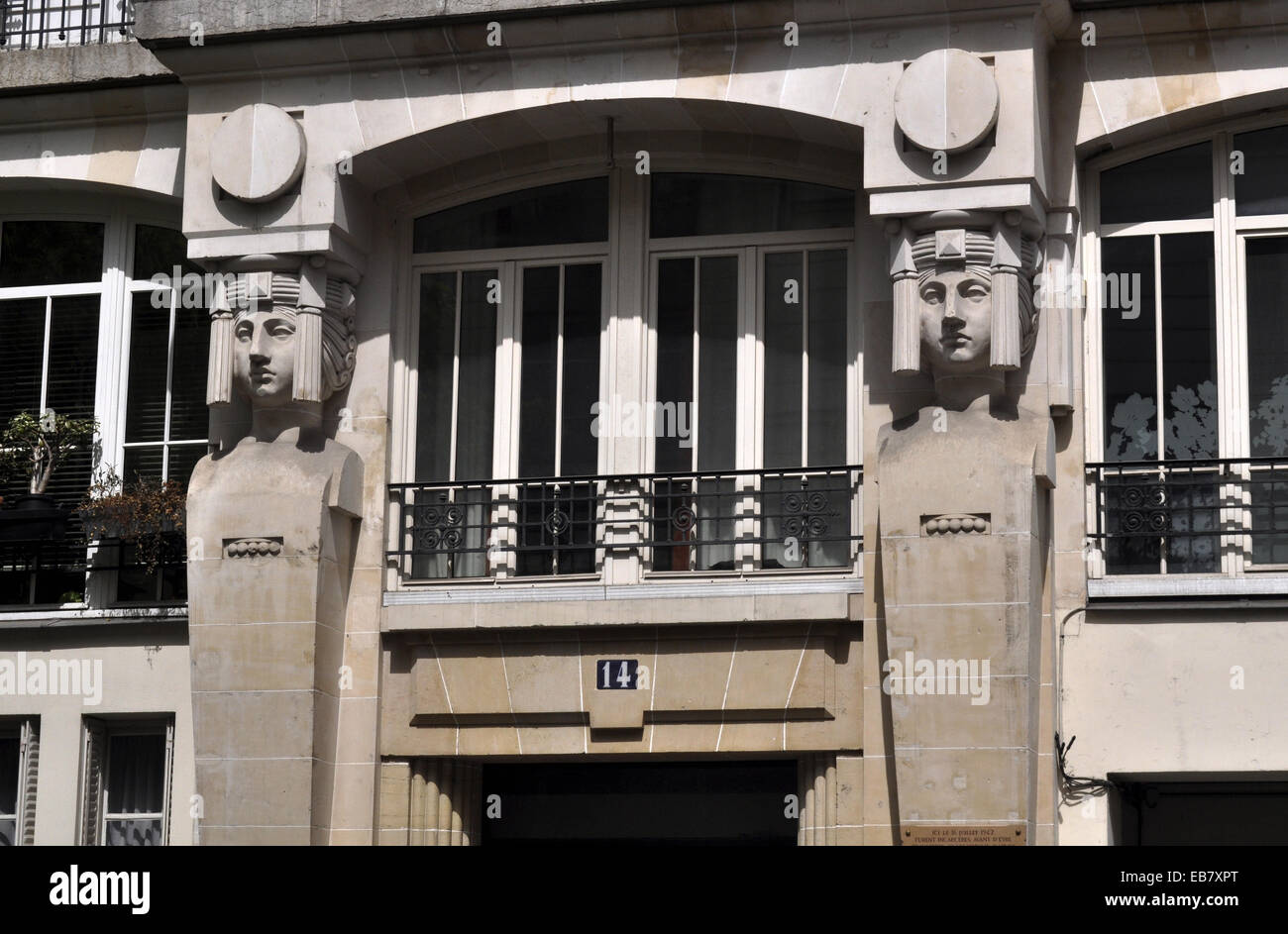 Paris, France, Art Deco with Egyptian influence - Stock Image
