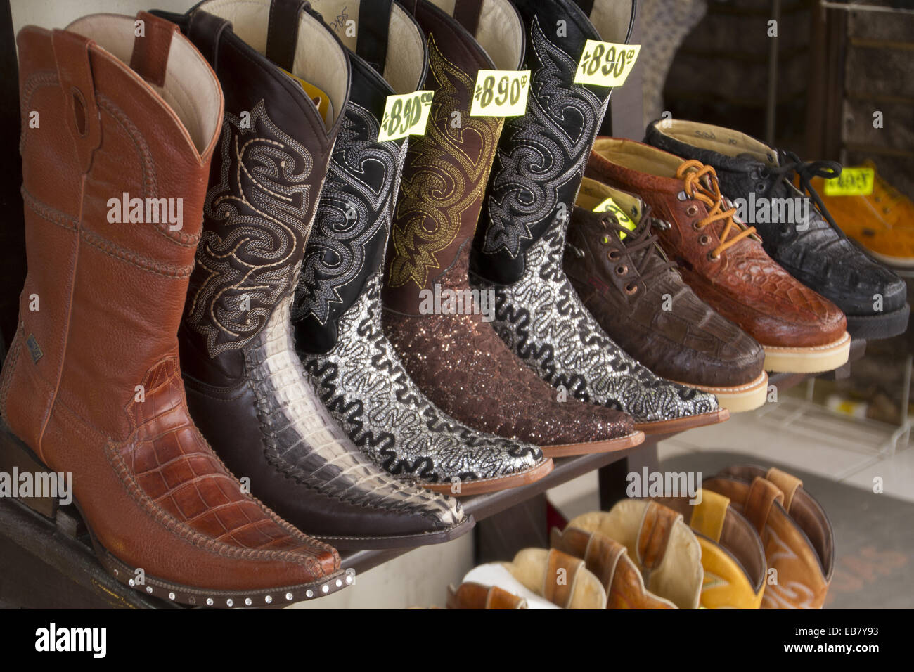 Botas vaqueras cowboy boots Northern Mexico Stock Photo 75777775