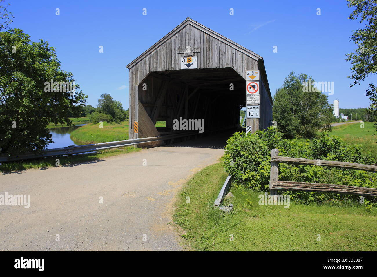 The Hasty Covered Bridge in Westmorland on the Petitcodiac River, New Brunswick, Canada - Stock Image