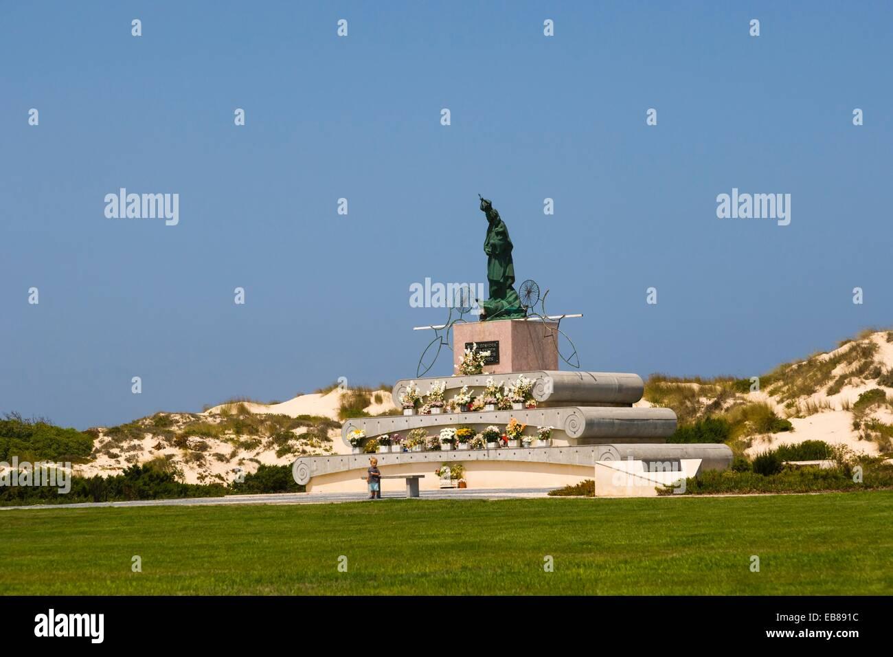 Nossa Senhora da Boa Viagem sculpture, Peniche, Leiria District, Pinhal Litoral, Portugal. - Stock Image