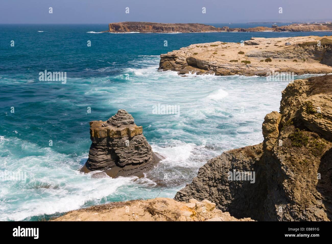 North Coast, Peniche, Leiria District, Pinhal Litoral, Portugal. - Stock Image