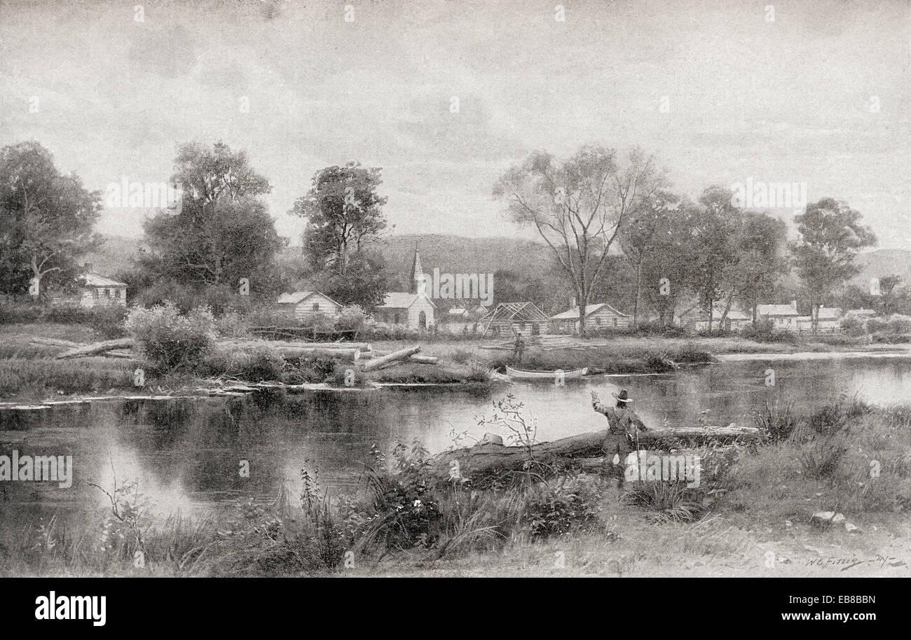 The Ebenezer Settlement, aka New Ebenezer, Effingham County, Georgia, United States. - Stock Image