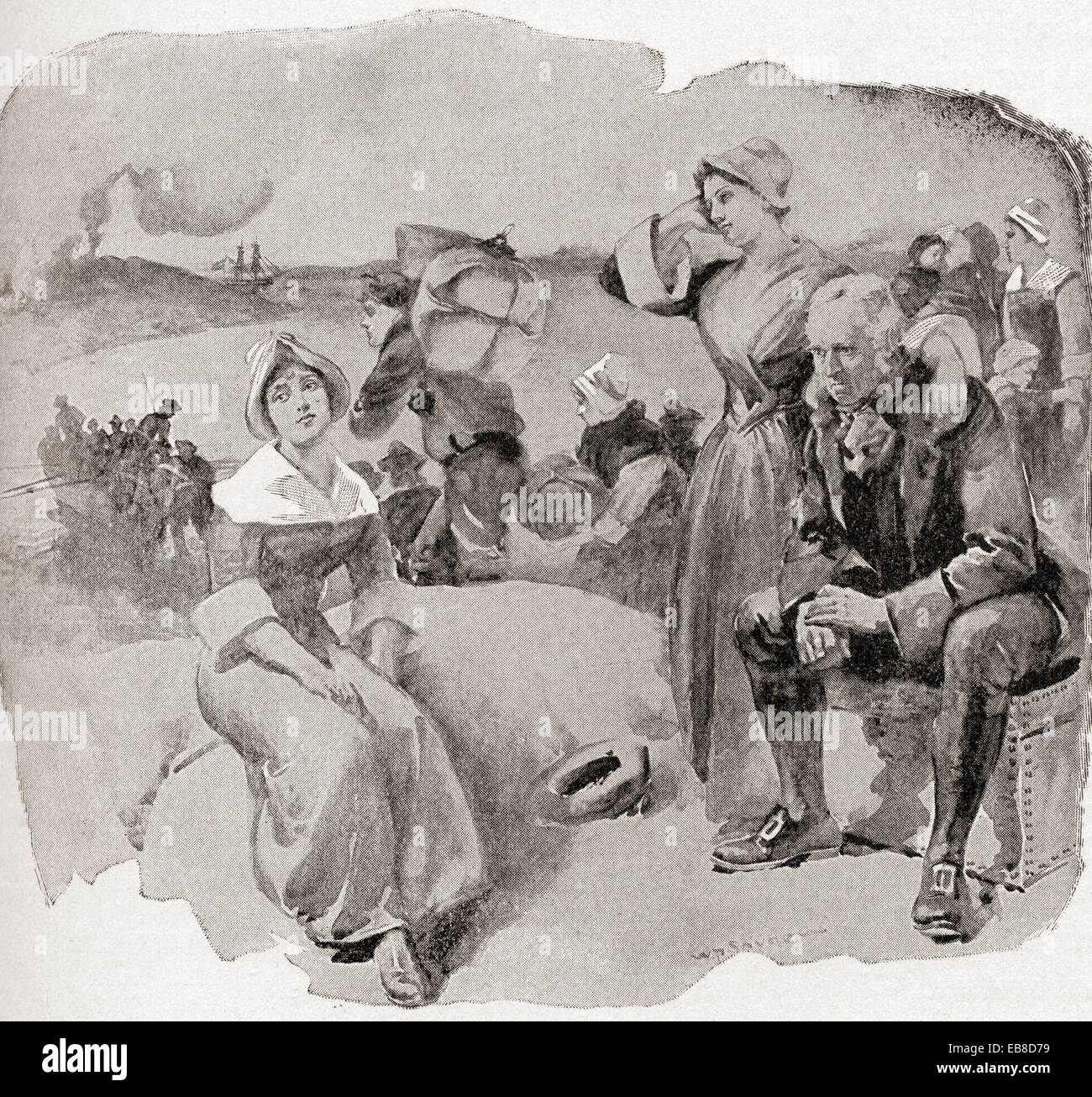The Expulsion of the Acadians, aka the Great Upheaval, the Great Expulsion and Le Grand Dérangement. - Stock Image