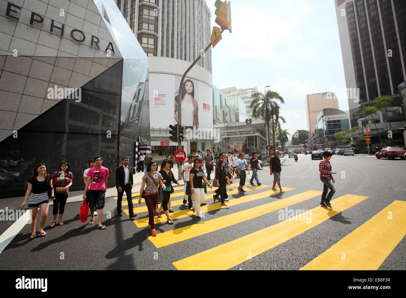 Zebra Crossing And The Modern Architecture In Kuala Lumpur Malaysia Stock Photo Alamy