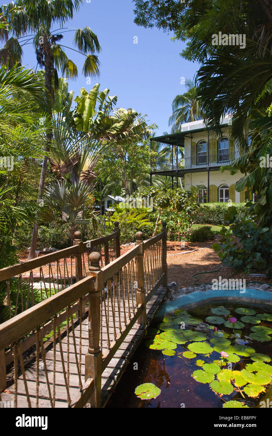 GARDEN ERNEST HEMINGWAY HOME MUSEUM KEY WEST OLD TOWN HISTORIC DISTRICT FLORIDA USA Stock Photo