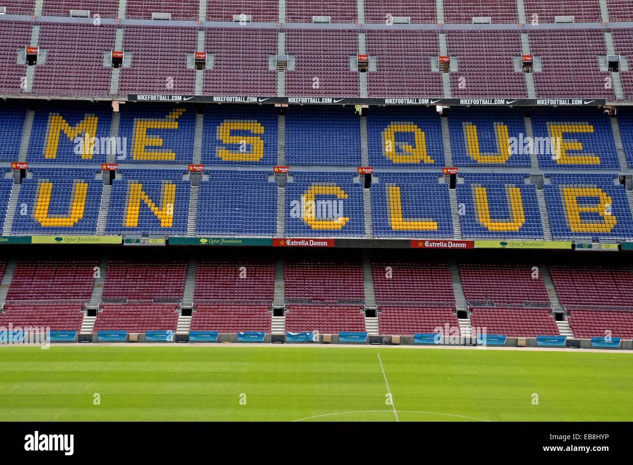 Harrows stadium, Camp Nou, FC Barcelona, Barcelona, Catalonia, Spain - Stock Image
