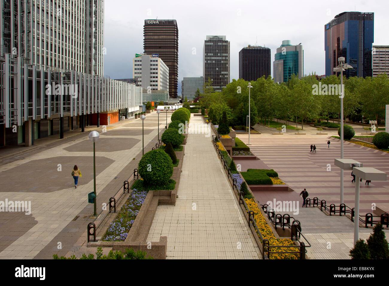 Azca business center, Madrid, Spain Stock Photo