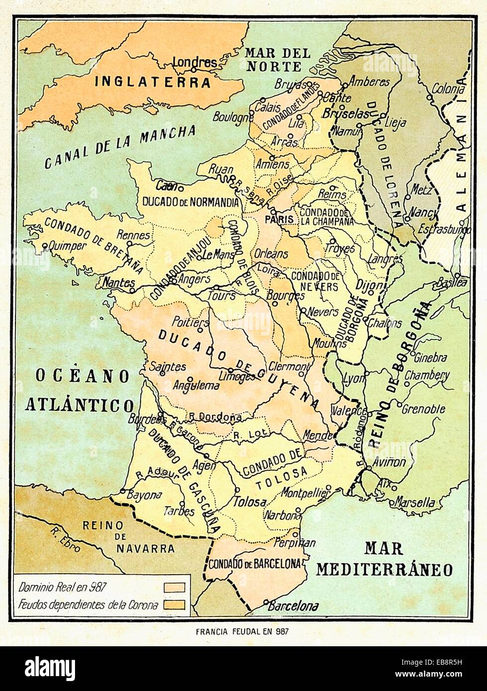 Map France 987.Feudal France Map In 987 Stock Photo 75796493 Alamy