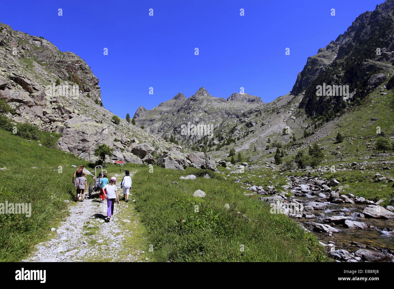The Gordolasque valley, Mercantour national park, Alpes-Maritimes, 06, France. Stock Photo
