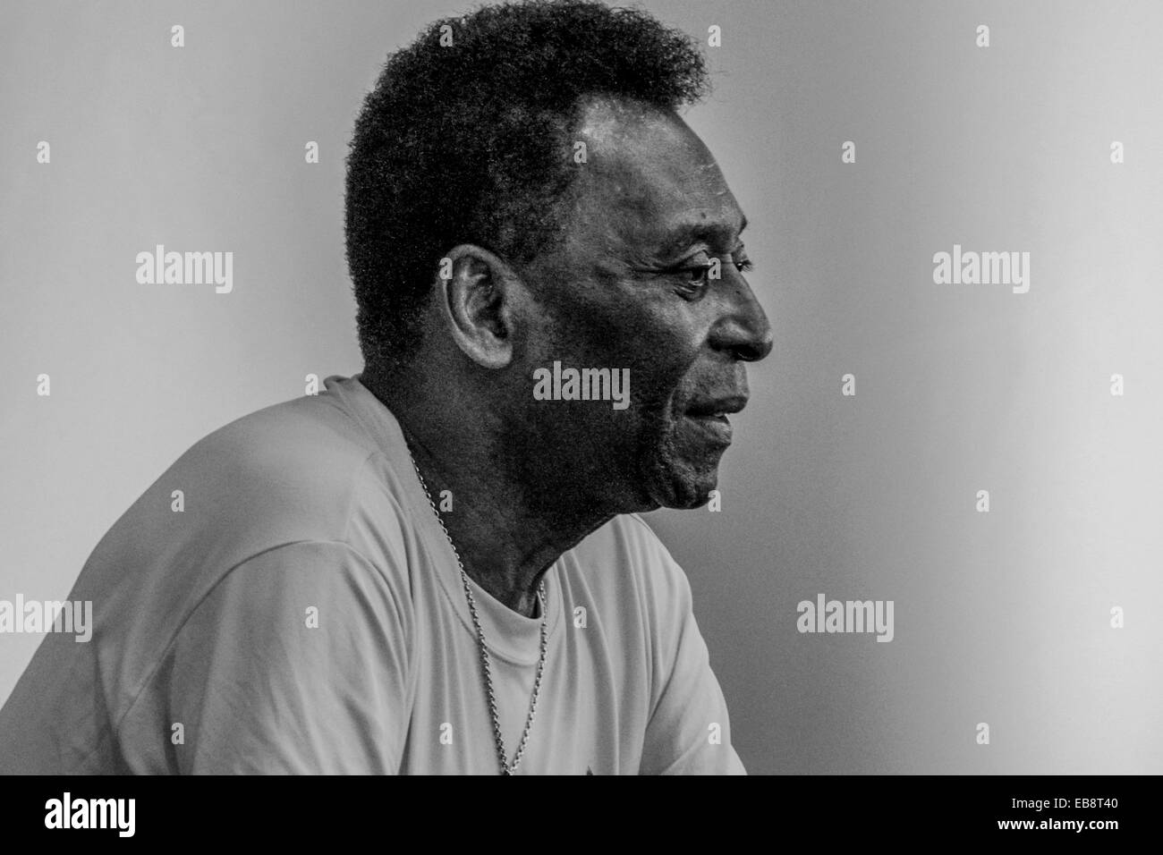 RIO DE JANEIRO, 18.06.2014. Pelé during interview in Rio de Janeiro talking about World Cup, health and his - Stock Image
