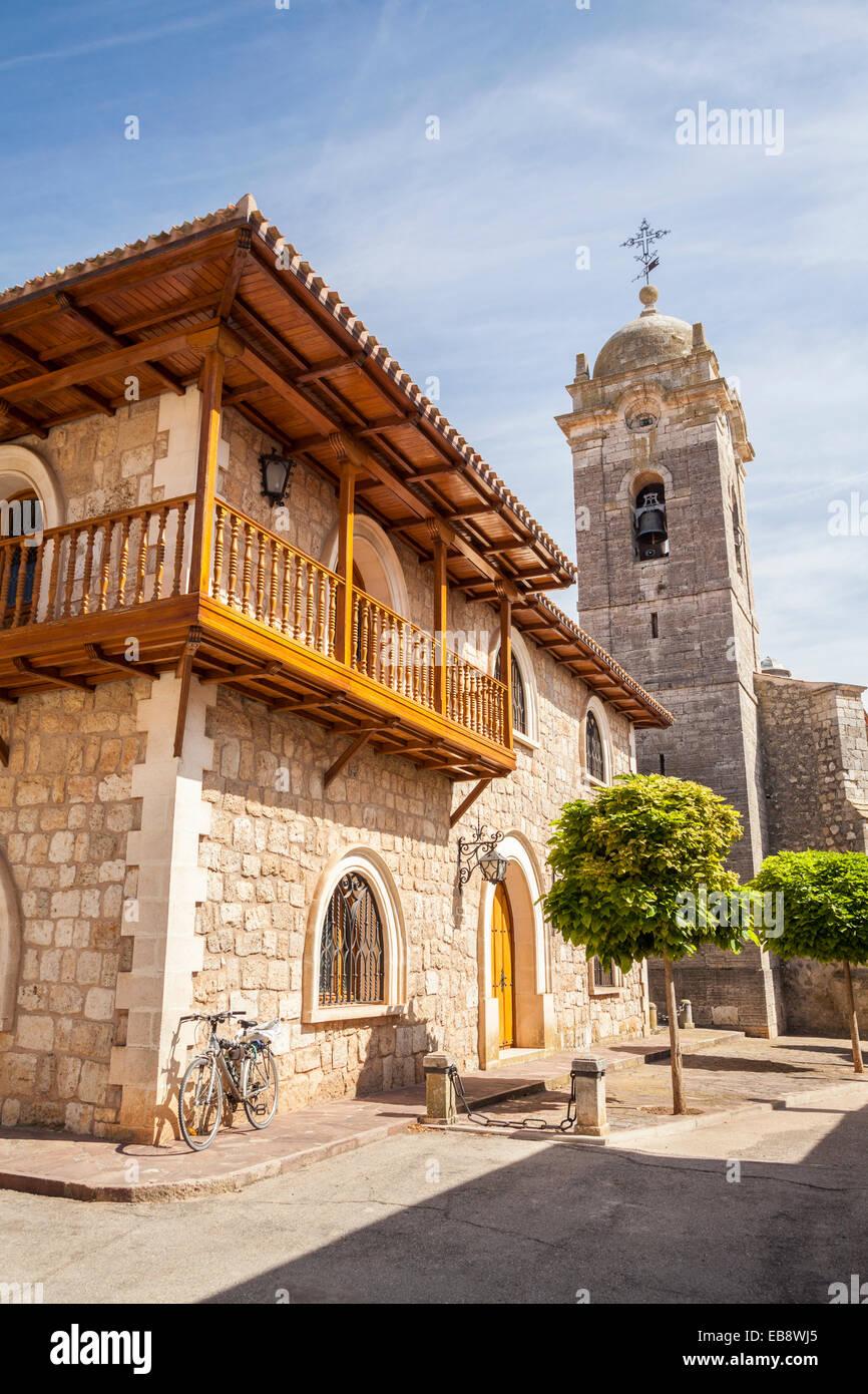 Church of Santa Marina in Rabé de las Calzadas, Way of St. James, Burgos, Spain - Stock Image