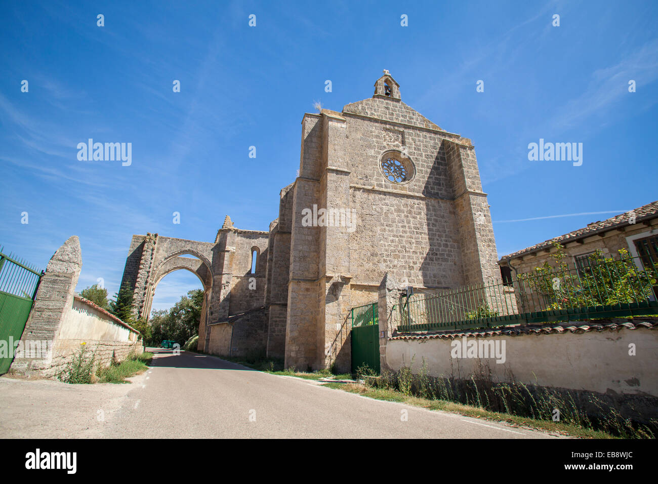 Ruins of the Monastery of San Anton near Castrojeriz village, Way of St. James, Burgos, Spain - Stock Image
