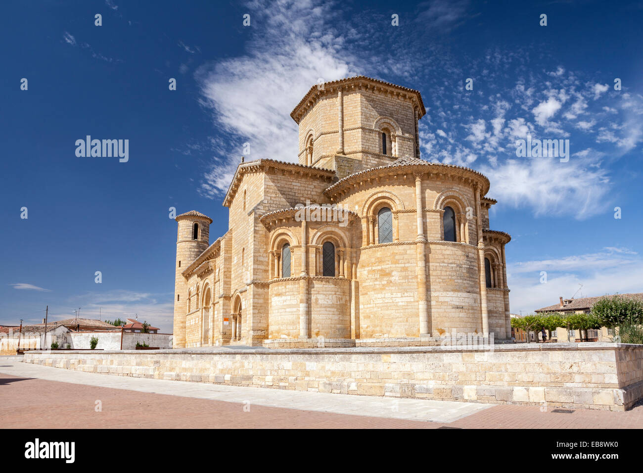 Churc of San Martin in Fromista, Way of St. James, Palencia, Spain - Stock Image