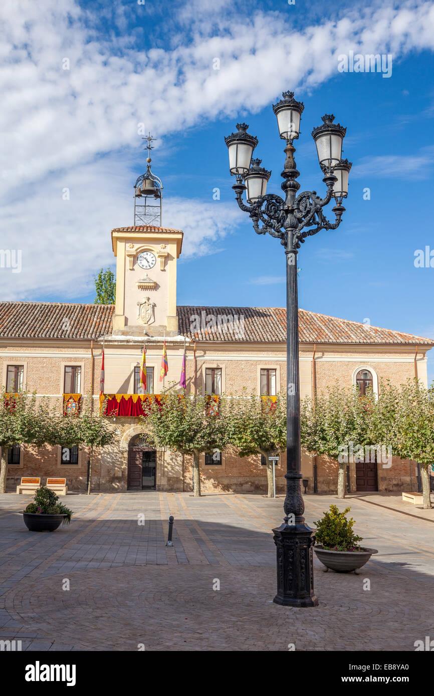Plaza del Ayuntamiento in Carrion de los Condes, Way of St. James, Palencia, Spain - Stock Image