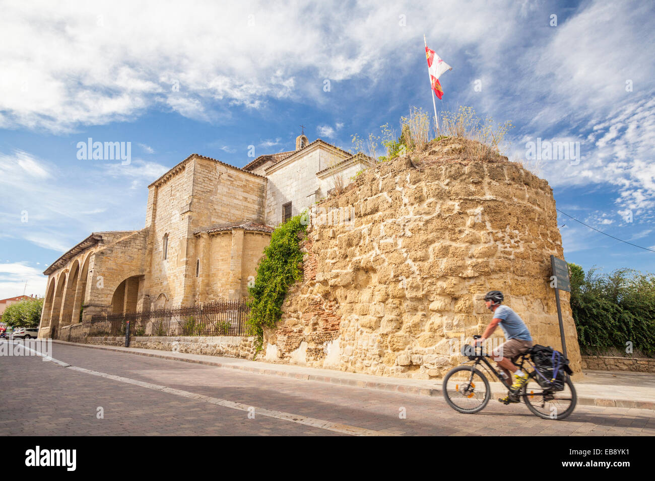 Church of Santa Maria del Camino in Carrion de los Condes, Way of St. James, Palencia, Spain - Stock Image