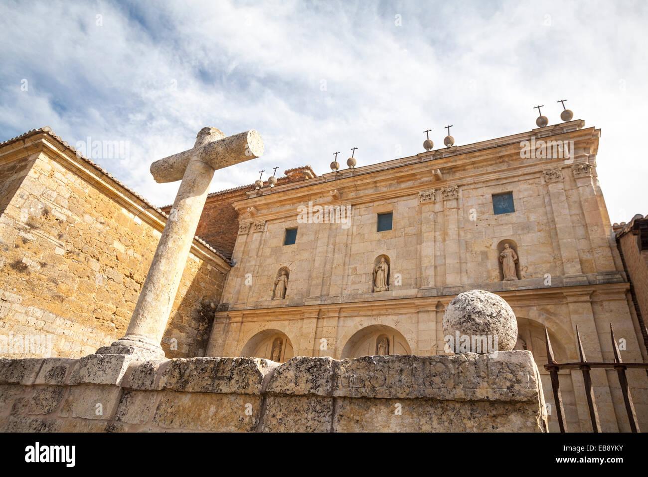 Real Monasterio de Santa Clara in Carrion de los Condes, Way of St. James, Palencia, Spain - Stock Image