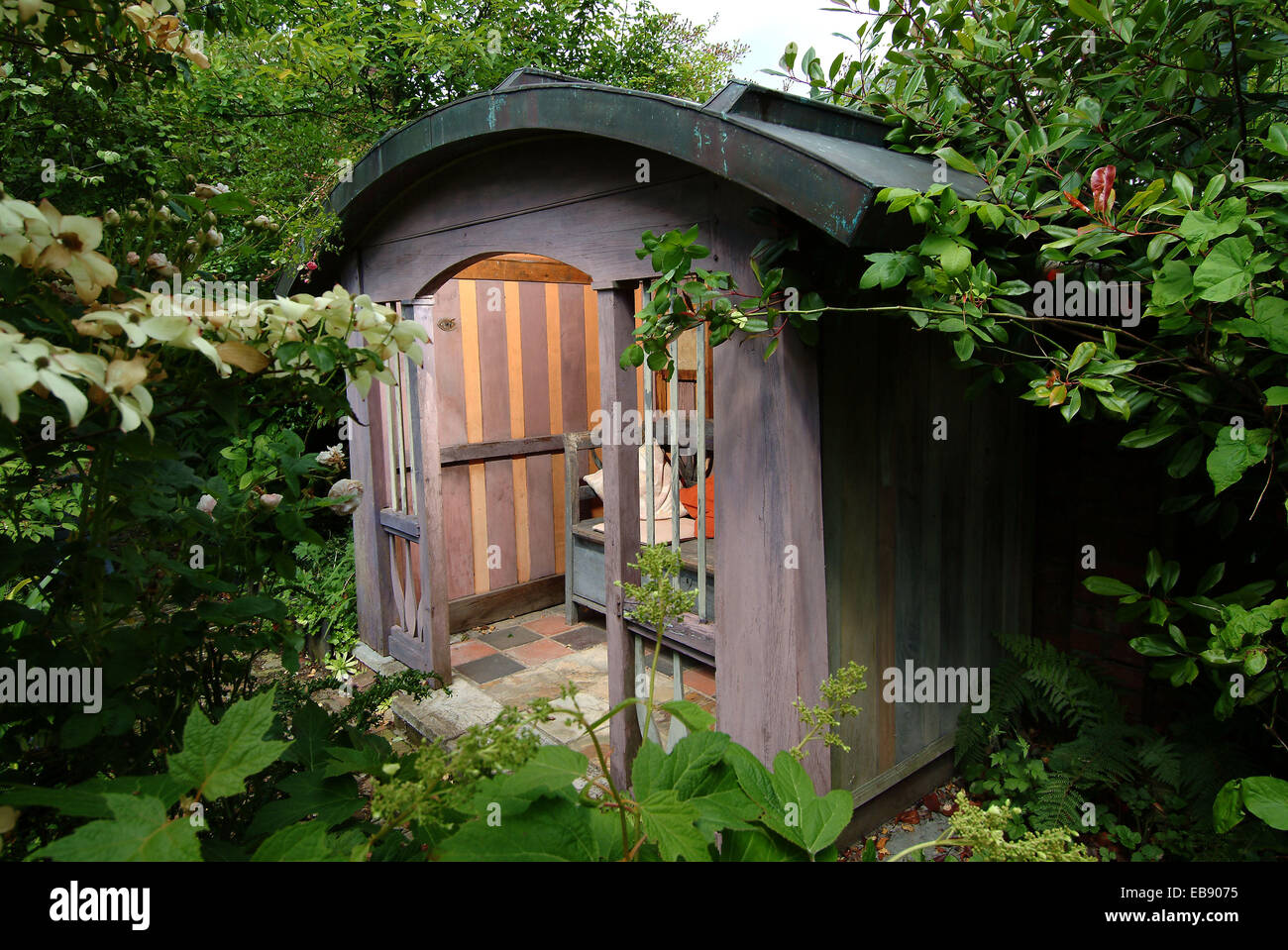 Summerhouse designed by Richard Craven in Ludlow, Shropshire, UK - Stock Image