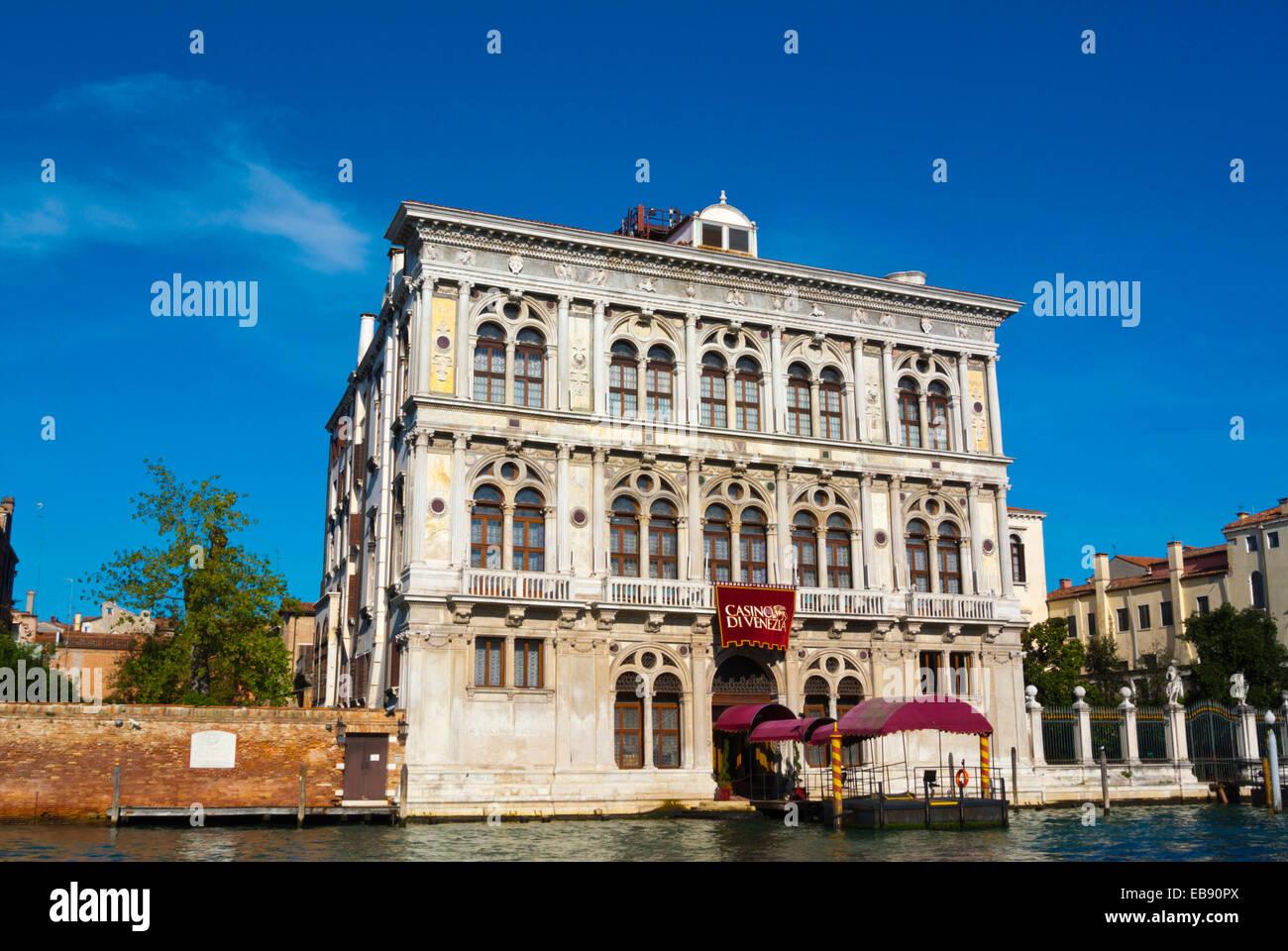 Casino di Venezia, Canal Grande, Cannaregio, Venice, Italy - Stock Image