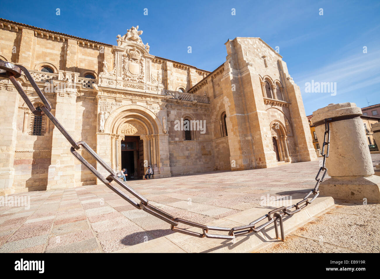 Real Colegiata de San Isidoro in Leon, Way of St. James, Leon, Spain - Stock Image