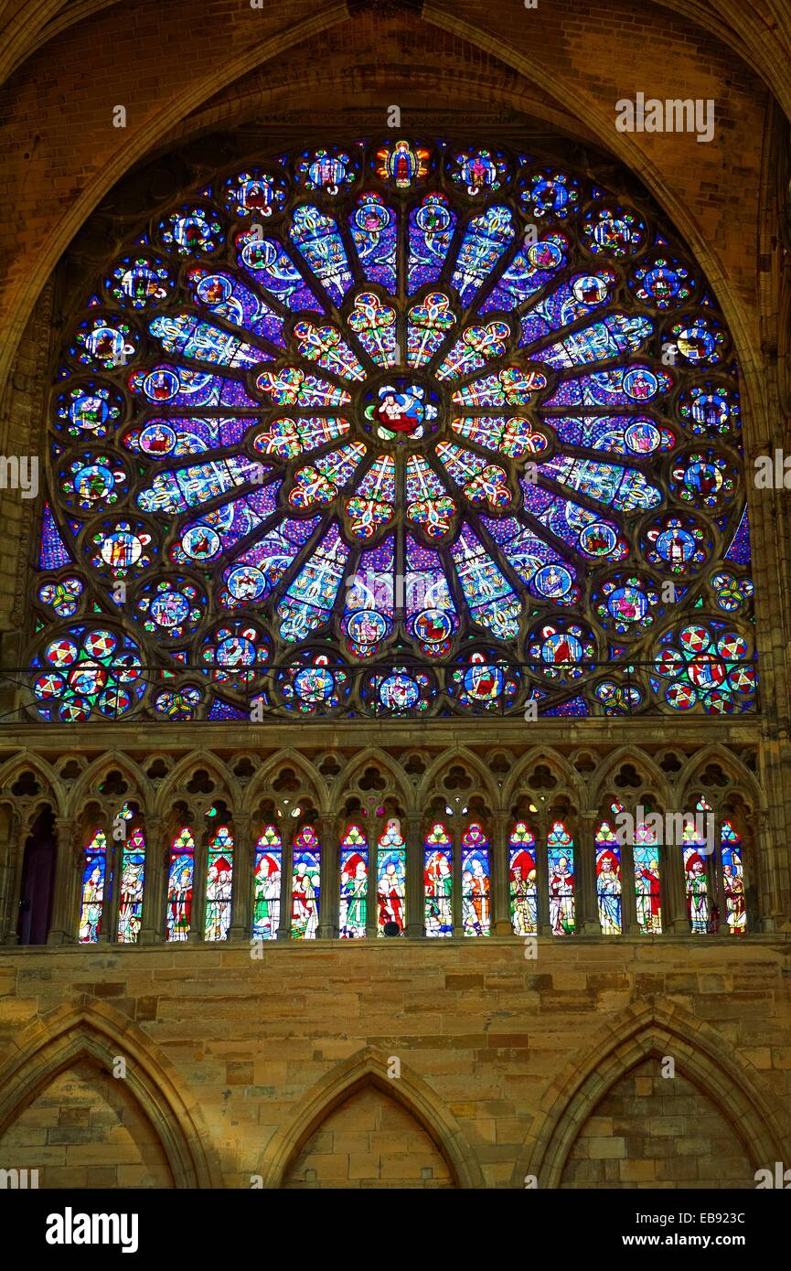 Medieval Rayonnant Gothic Stained Glass Rose Window The Cathedral Basilica Saint Denis Basilique Paris