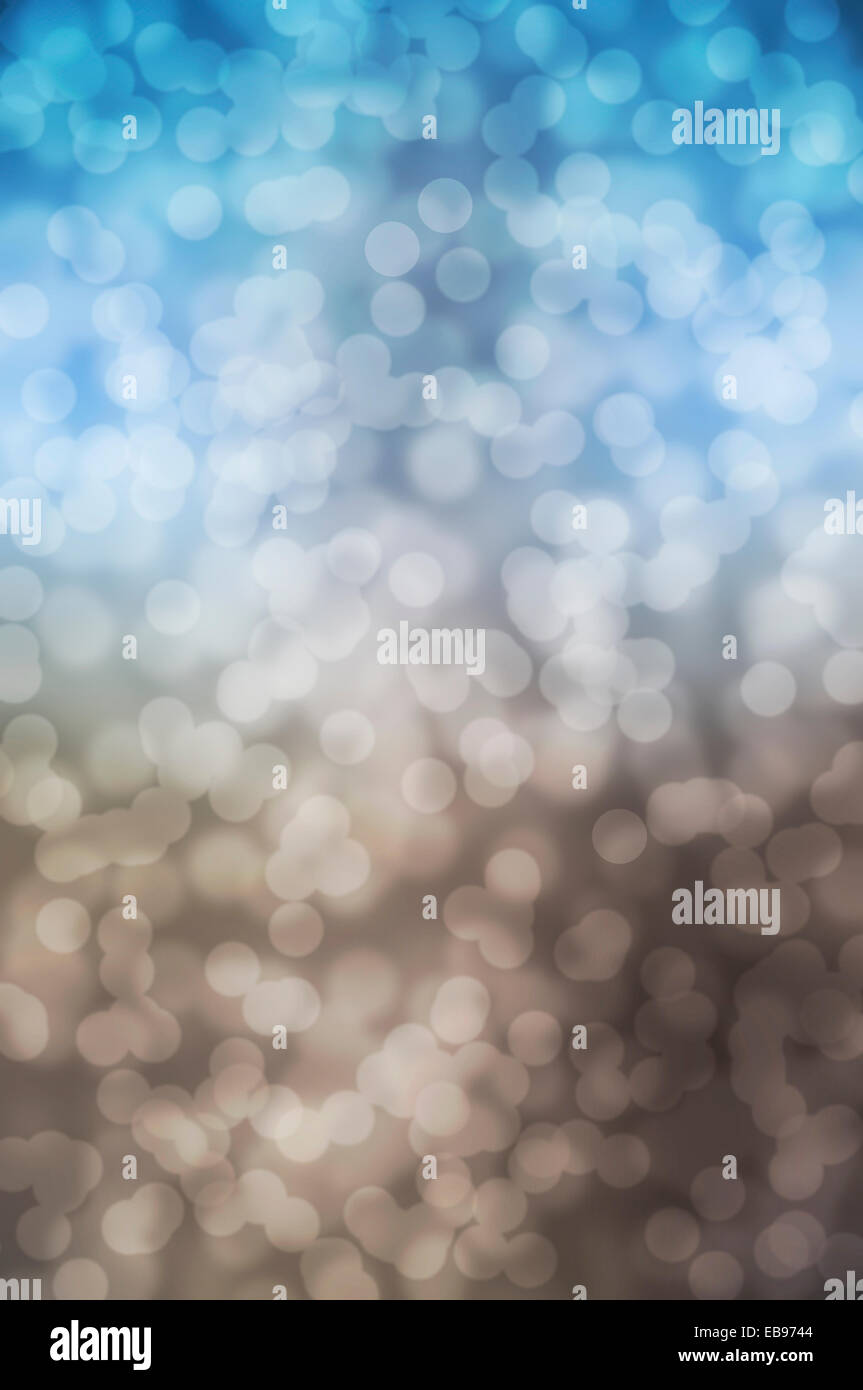 blue and brown defocused lights background. abstract bokeh lights - Stock Image