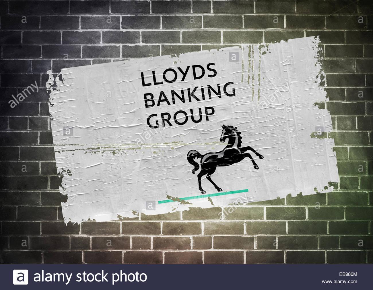 Lloyds Bank logo icon poster - Stock Image