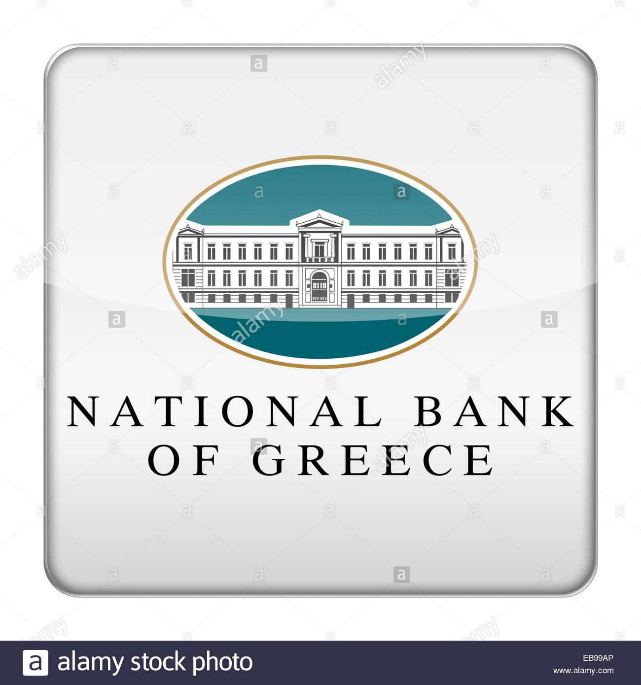 National Bank of Greece logo icon - Stock Image