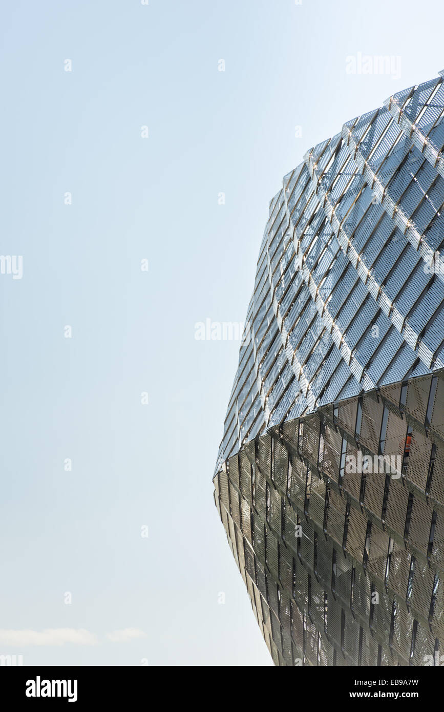 Detail of Tele 2 Arena in Stockholm, Sweden. An arena for sport and music events that opened in 2013. - Stock Image