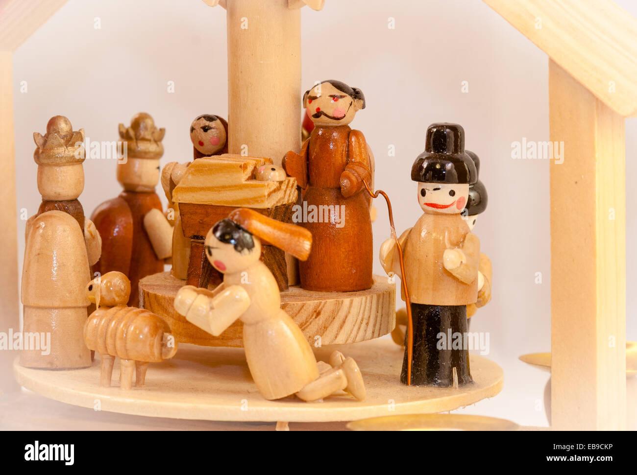 small wooden crib - Stock Image