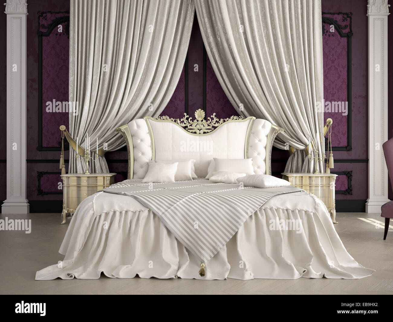 Interior Of A Classic Style Bedroom In Luxury Villa 3d