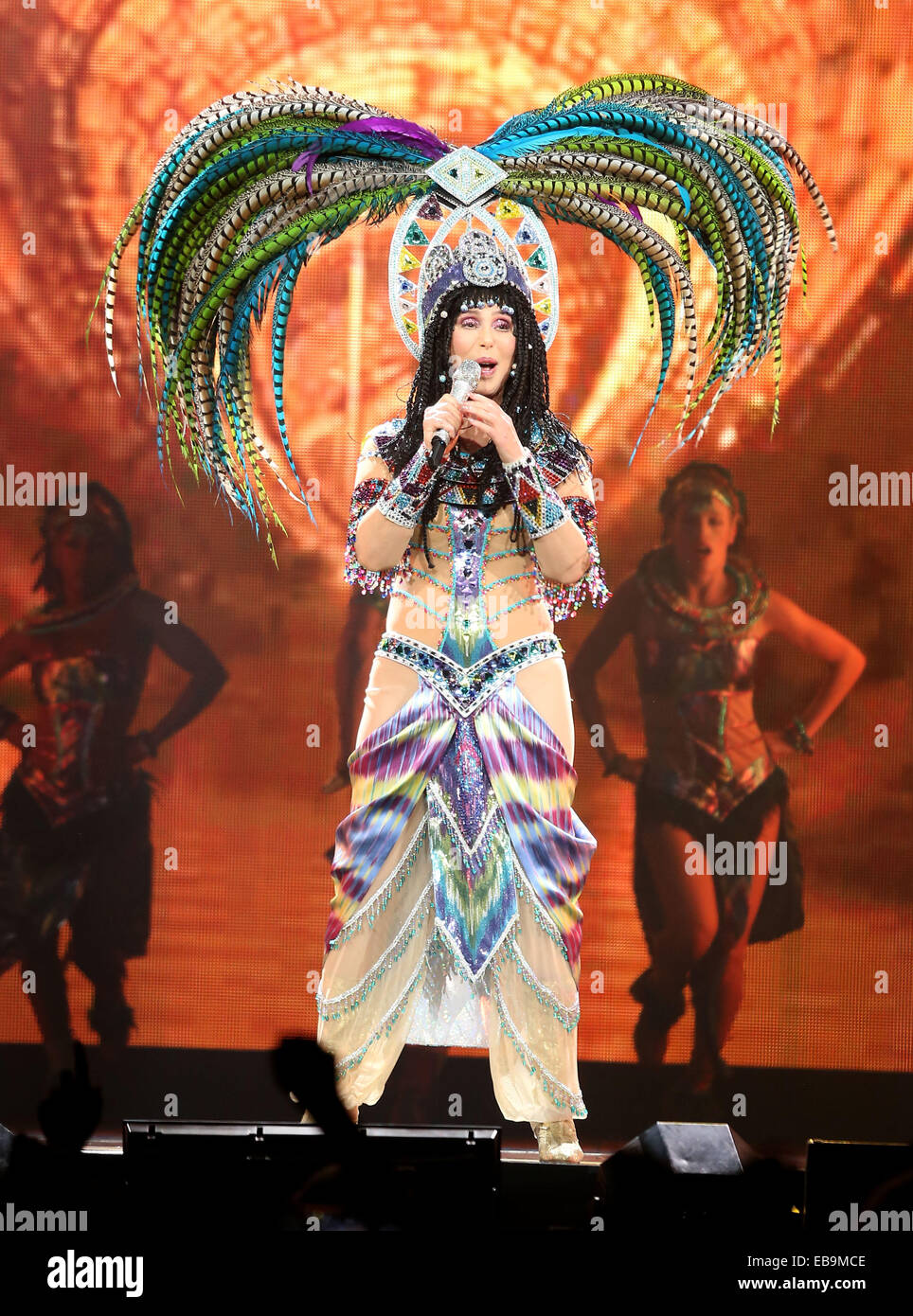 Cher In Concert At MGM Grand Garden Arena Las Vegas Featuring: Cher Where:  Las Vegas, Nevada, United States When: 25 May 2014