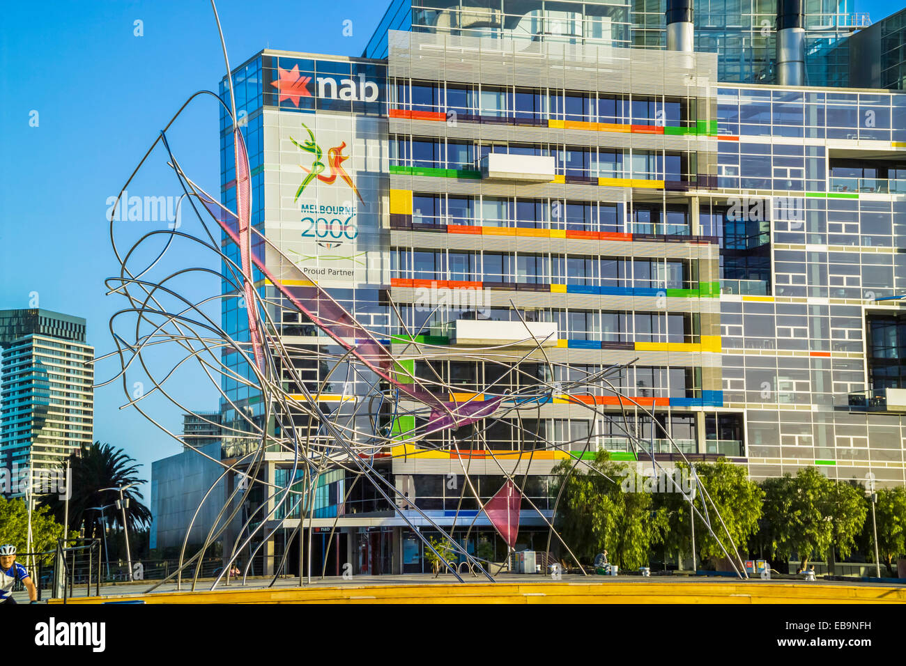 Shoal Fly by, Installation public art project by Cat Macleod and Michael Bellemo, Docklands, Melbourne Australia - Stock Image