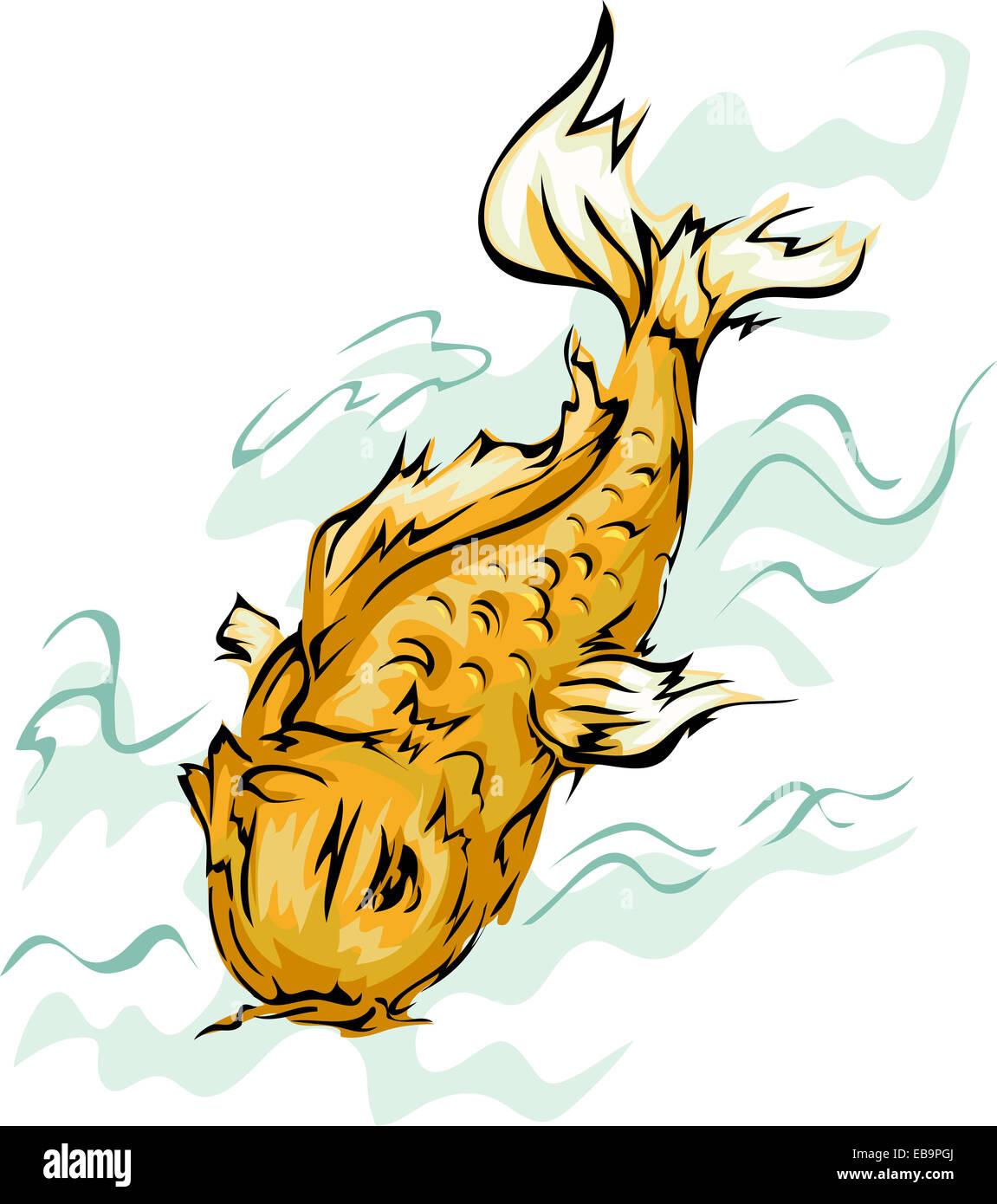Koi Fish Illustration Stock Photos & Koi Fish Illustration Stock ...