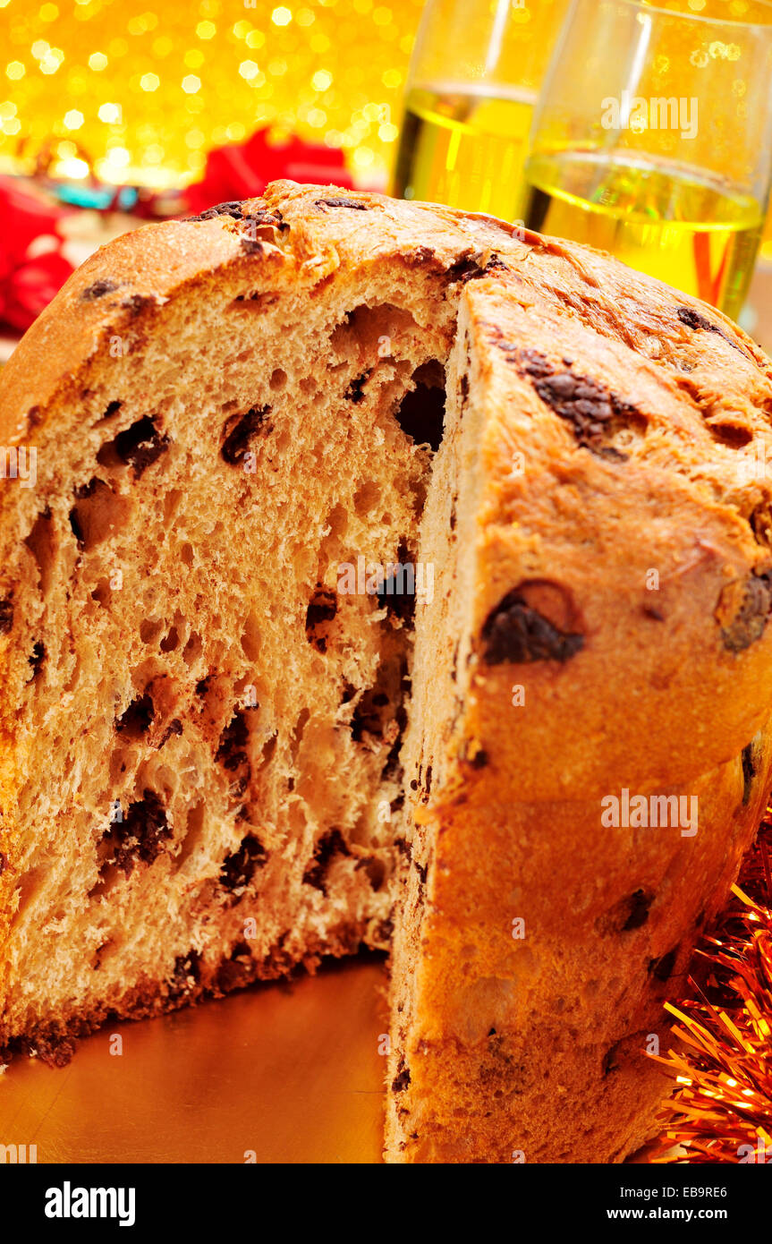Closeup Of A Panettone Typical Italian Sweet For Christmas Time On Set