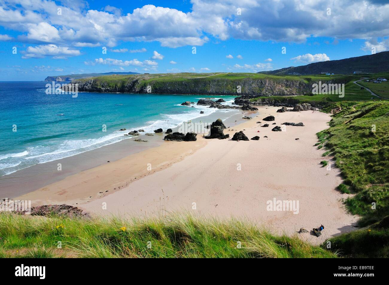 Beach of Sango Bay, Durness, Caithness, Sutherland and Easter Ross, Scotland, United Kingdom - Stock Image