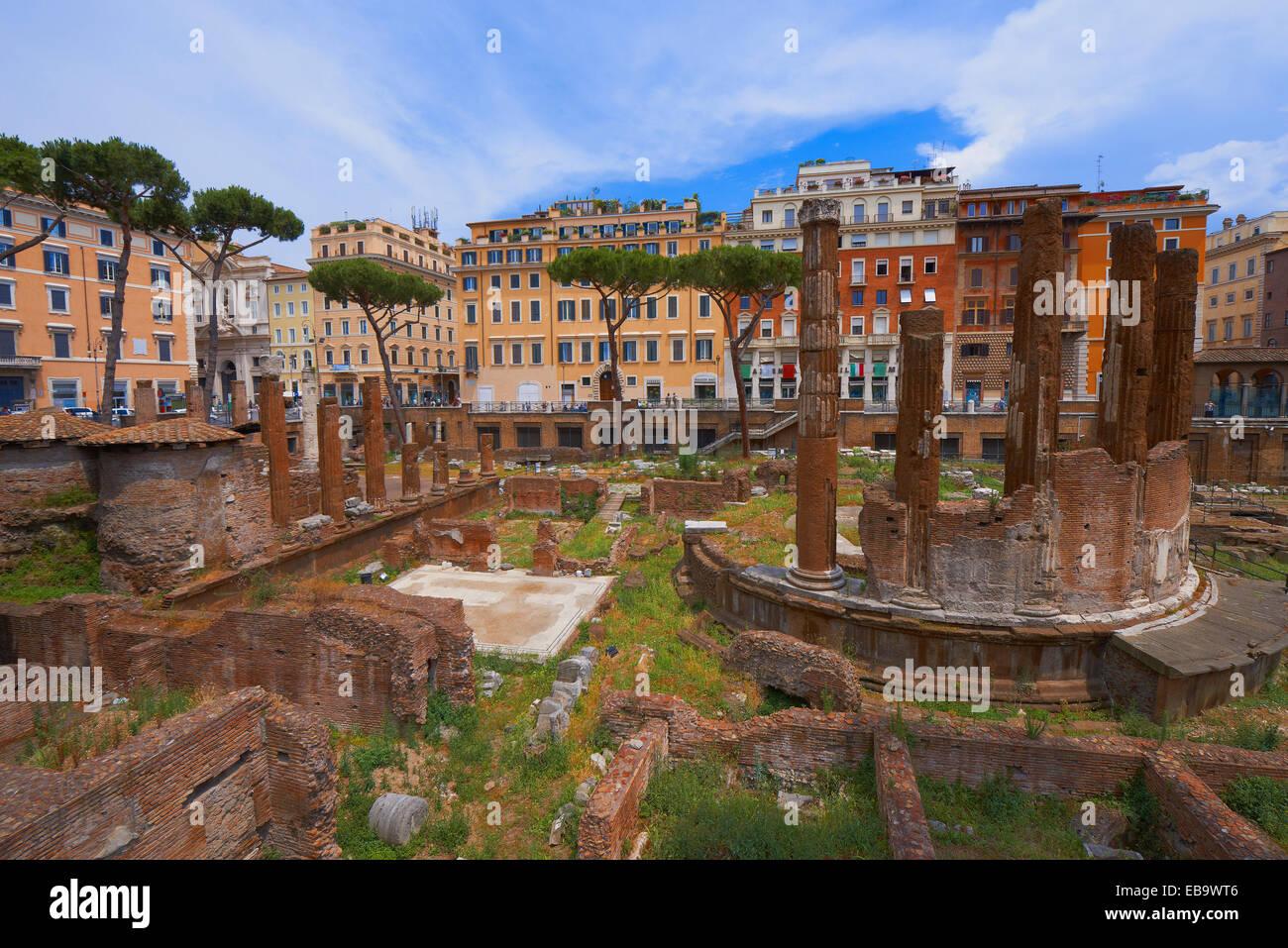 Area Sacra temple precincts, Largo di Torre Argentina square, Rome, Lazio, Italy - Stock Image