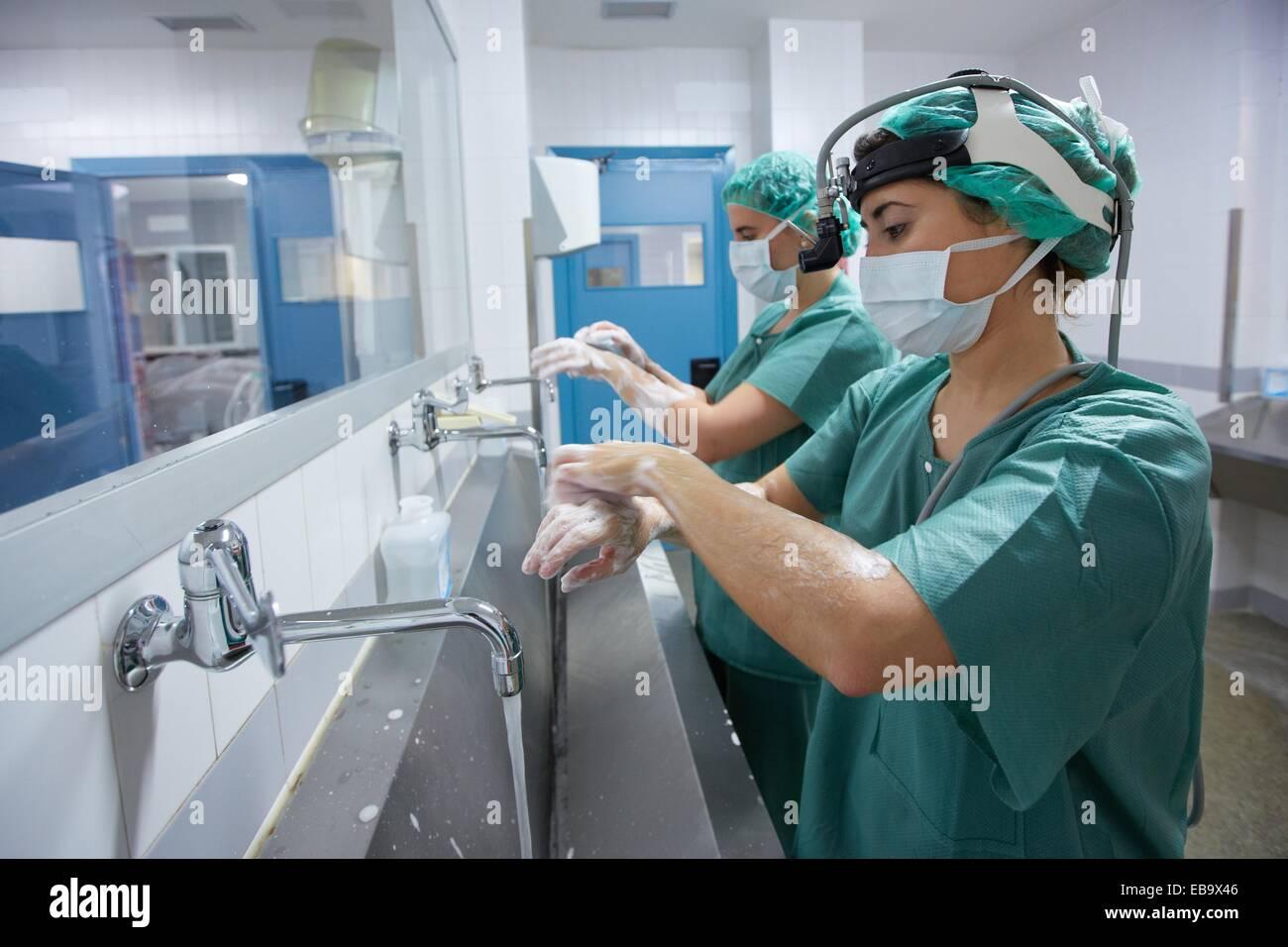 Surgical Scrub Handwashing Operating Room Surgery