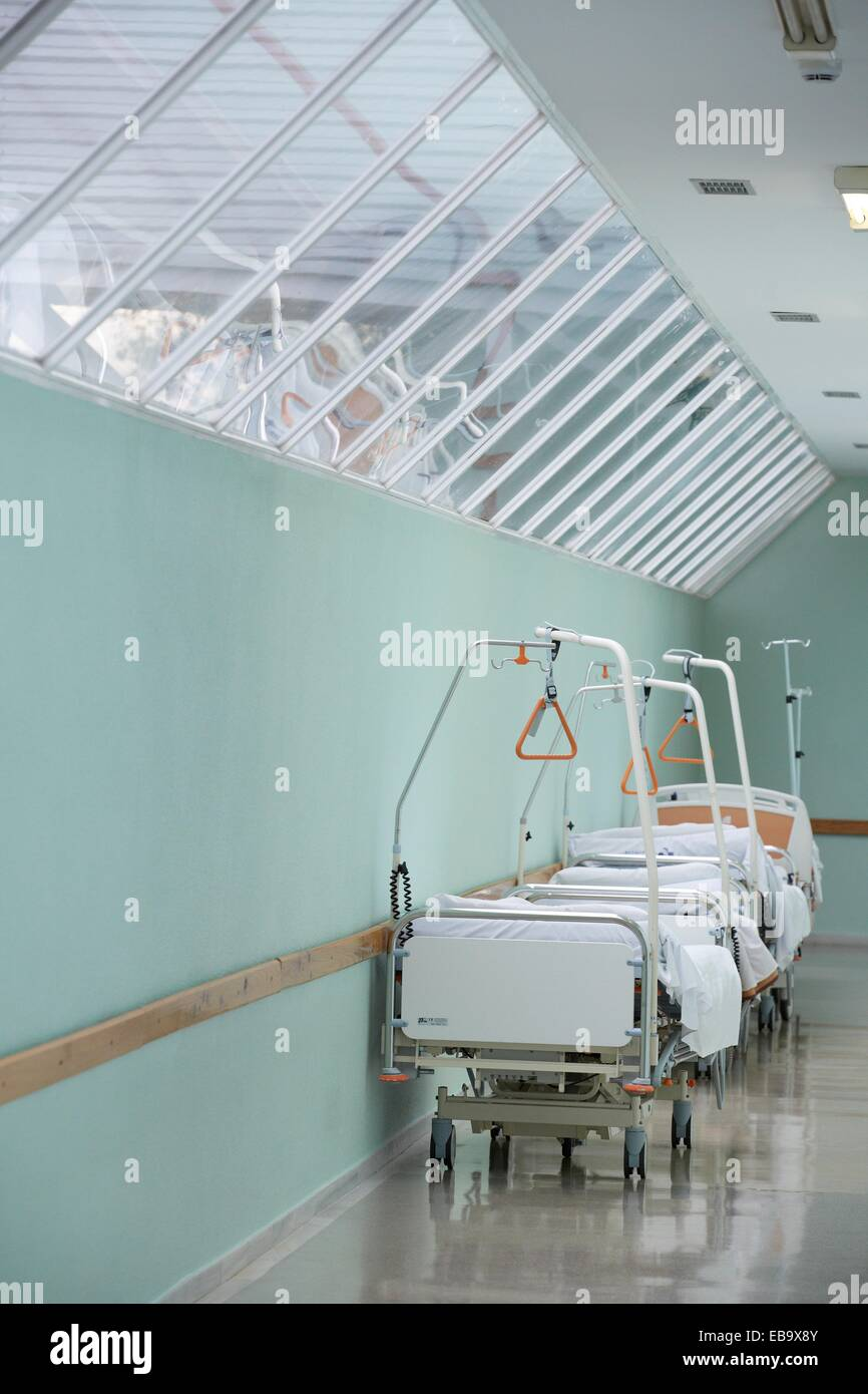 Patient Beds Operating Room Corridor Surgery Hospital Donostia